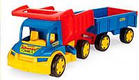 Большой игрушечный грузовик Гигант с тележкой, Wader 65100 (65100)