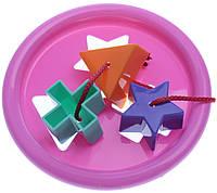 Логическое кольцо - развивающая игрушка-сортер, 5 элементов, Тигрес, фиолетовый (39165-8)