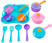Набор игрушечной посуды розовый-бирюзовый-оранжевый-фиолетовый (39146-2)