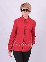 Рубашка классическая с окантовкой бордовая