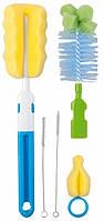 Набор ершиков для мытья бутылочек и сосок Чистюля, Canpol babies, голубой (7/403-2)