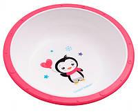 Тарелка-миска пластиковая с нескользящим дном, Canpol babies вишня (4/416-3)