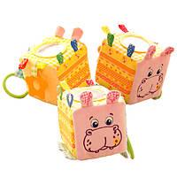 Мягкая игрушка Подвеска-кубик Зоо Бегемот Добряк, Масик  MK5101-02 (MK5101-02)