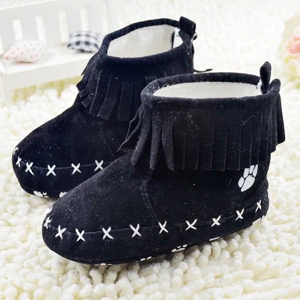 Пинетки ботиночки Лапки (черные) 12
