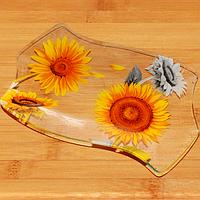 Тарелка 'Волна 1'.29 * 19,5 см Солнечный день.