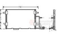 Конденсор кондиционера Audi A6 25TDi 97-04 (Van Wezel) (производство VAN WEZEL ), код запчасти: 03005137