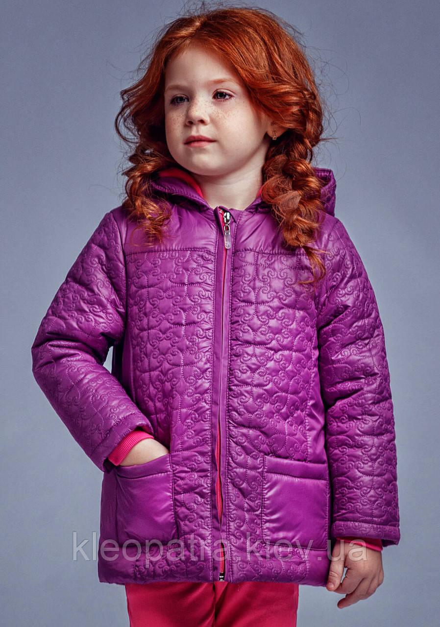 Куртка демисезонная для девочки Фиалка
