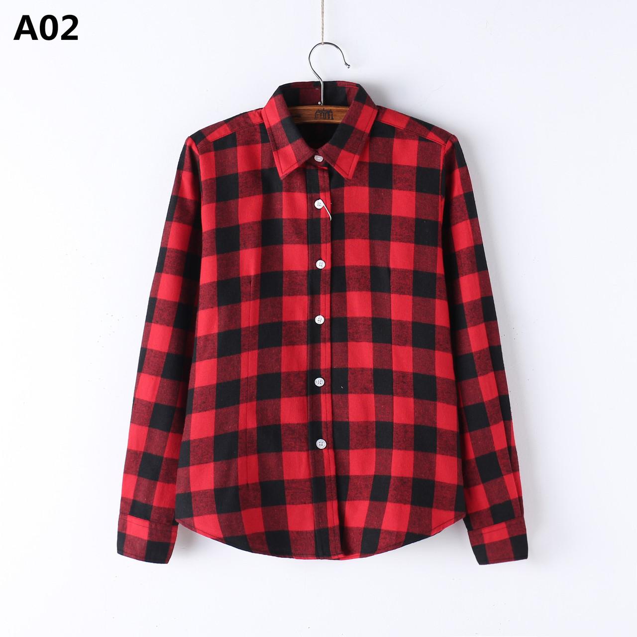 9c1f274076e Рубашка женская в клетку NNT 889 M-5XL Рубашки женские клетчатые -  супермаркет матадор в