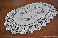 Салфетка льняная с ленточной вышивкой, арт. ALT-8902