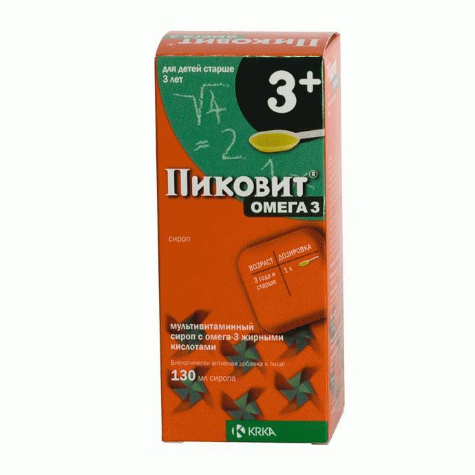 Пиковит Омега 3 - Поливитаминный комплекс - сироп 130 мл