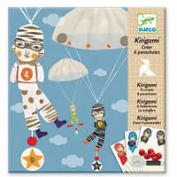 Художественный комплект Djeco Киригами Мальчики с Парашютом DJ08772