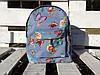 Джинсовый  MINI рюкзак с бабочками