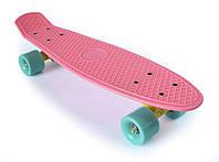 Пенни Борд «Нежно Розовый» 22″ Мятные Колеса / пенниборд скейт (penny board), скейтборд