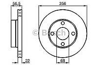 Гальмівний диск audi 80, cabriolet, coupe, f (производство Bosch ), код запчасти: 0986478550
