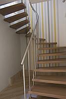 Перила из нж стали (ограждение лестницы)