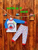 "Пижама для мальчика ""Лев"" Merry Bee 12102 р.86 белый с синим"