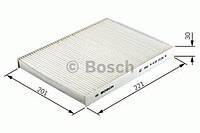 Повітряний фільтр салону 2075 nissan almera,primera 00- (производство Bosch ), код запчасти: 1987432075