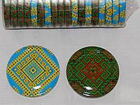 Крышка закаточная твист-офф размер 66 мм Вышиванка-микс