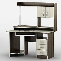 Компьютерный стол с выдвижными ящиками Тиса-21, дуб молочный+ венге магия