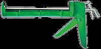 Пистолет для герметика полуоткрытый металлический, зубчатый стержень FAVORIT