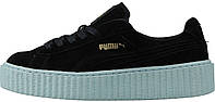 Женские кроссовки Rihanna X Puma Creeper Black/Sole White, пума