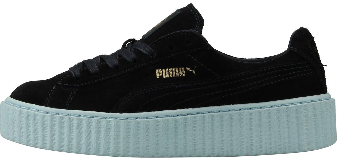 Женские кроссовки Rihanna X Puma Creeper Black/Sole White, Пума Риана