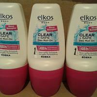 Дезодорант-антиперспирант роликовый Elkos Elkos Clear+Safe 48hr 50 ml