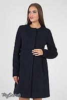 Кашемировое пальто для беременных Madeleine, темно-синее, фото 1