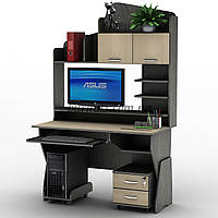 Компьютерный стол регулируемый по высоте СУ-26 Оптима, дуб молочный+ венге магия