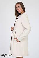 Кашемировое пальто для беременных Madeleine, бежевое