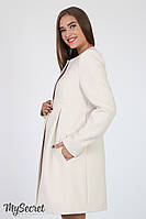 Кашемировое пальто для беременных Madeleine, бежевое, фото 1