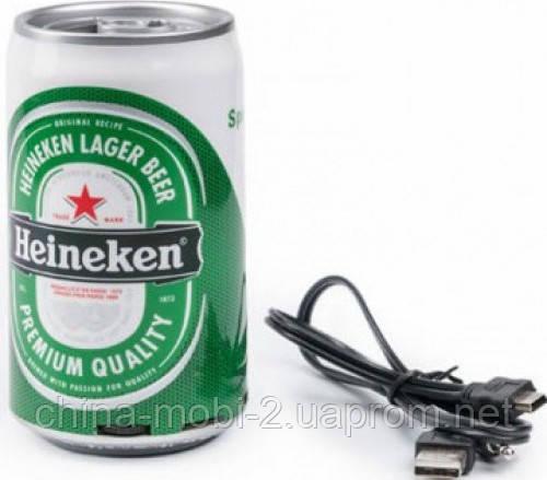 Портативная колонка банка Heineken с MP3 и FM
