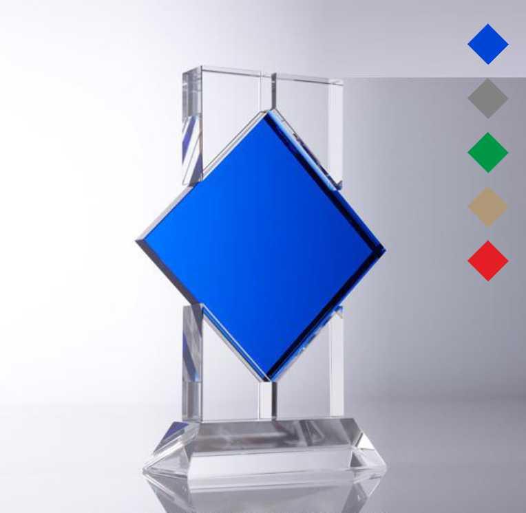 Награда из стекла, Стекло и цветной ромб