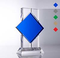 Награда из стекла, Стекло и цветной ромб, фото 1