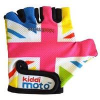 Перчатки детские Kiddi Moto британский флаг в цветах радуги, размер М (CLO-08-87)