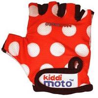 Перчатки детские Kiddi Moto красные в белый горошек, размер М (CLO-45-59)