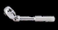 """Тріскачка 1/4"""" c карданом рифлена рукоятка KINGTONY 2781-06F"""