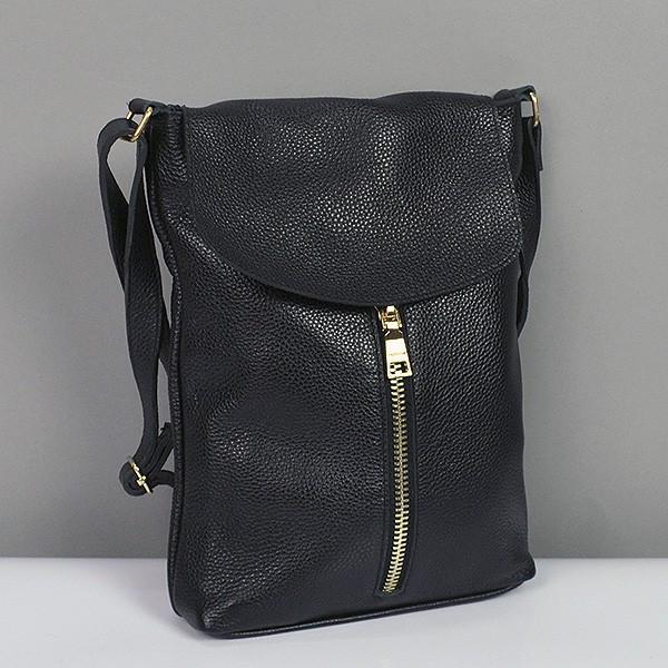 fffc3b11be2e Черная сумка-планшет женская кожаная №021 - Интернет магазин сумок SUMKOFF  - женские и