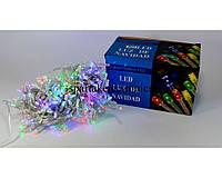 Новогодняя многоцветная гирлянда LED 400 M RGB COLOR (400 светодиодов), светодиодная гирлянда