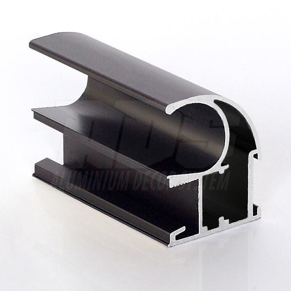Профіль - ручка для розсувних дверей Темна бронза 5200 мм