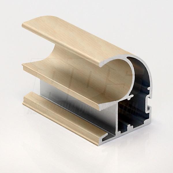 Профиль- ручка для раздвижной двери  Дуб светлый 5200мм