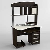 Компьютерный стол с выдвижными ящиками СК-221, дуб молочный+ венге магия