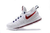 Мужские баскетбольные кроссовки Nike KD 9  (White/University Red-Racer/Blue), фото 1