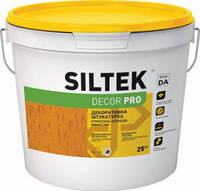 Штукатурка полимерная декоративная короед 2,0 мм, 25 кг Siltek Decor Pro, база DA