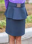 Шкільна спідниця дитяча з баскою, фото 2