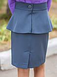 Шкільна спідниця дитяча з баскою, фото 3