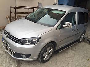Накладки на зеркала Volkswagen Caddy (нержавейка)