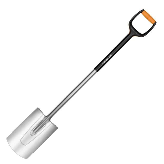 Лопата с закругленным лезвием большая Fiskars Xact