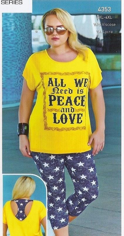 купить Женский комплект футболка с лосинами