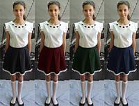 Юбка для девочки с кружевом